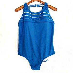 Catalina Blue One Piece Swimsuit Blue 2X